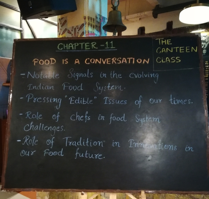 Food is a conversation
